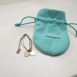Tiffany pink double heart necklace